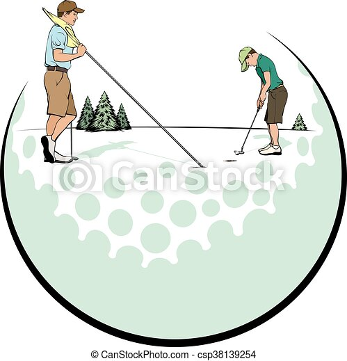 Father & Son Putting Green - csp38139254