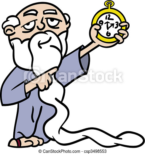 father time pointing at watch cartoon illustration of vectors rh canstockphoto com time clipart graphics time clock clipart