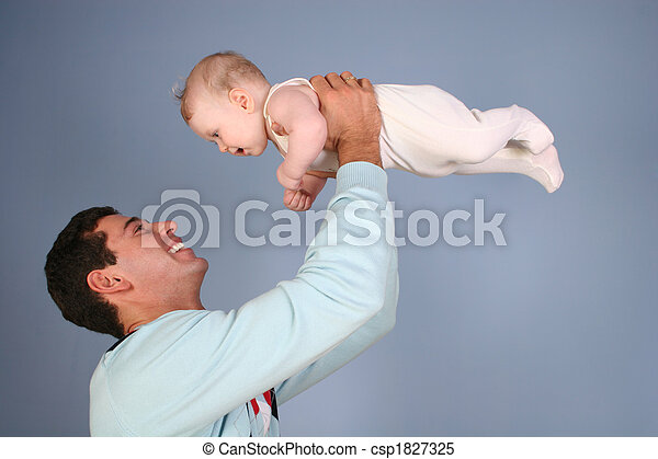 father with baby - csp1827325