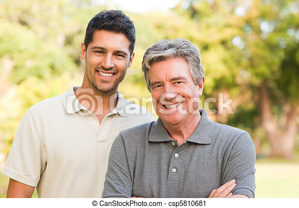 Father with his son looking at the  - csp5810681