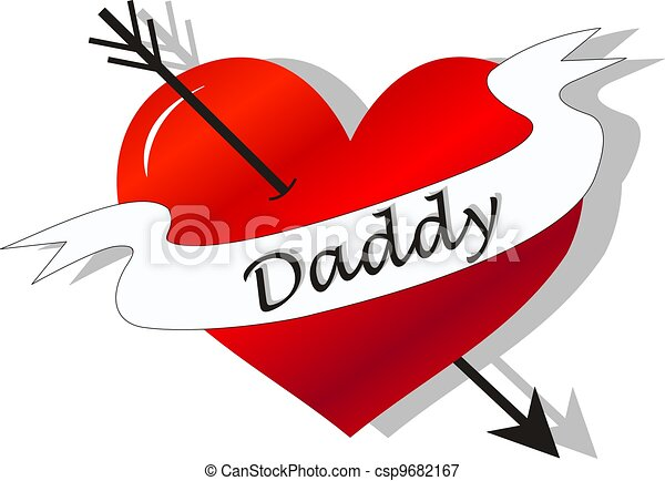 fathers day celebration tattoo - csp9682167