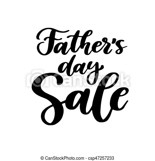 Fathers Day Sale Vector Card With Handwritten Lettering Decorative