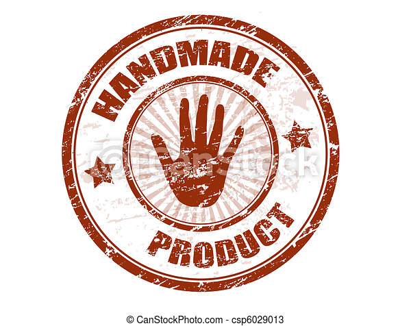 fatto mano, prodotto, francobollo - csp6029013