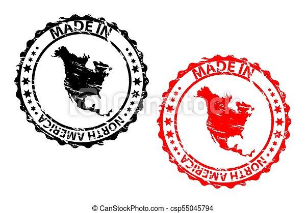 fatto, nord, francobollo, -, gomma, america - csp55045794