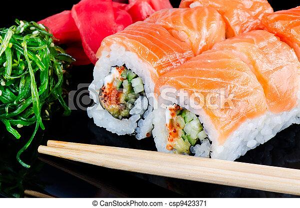 fatto, salmone, rotolo - csp9423371