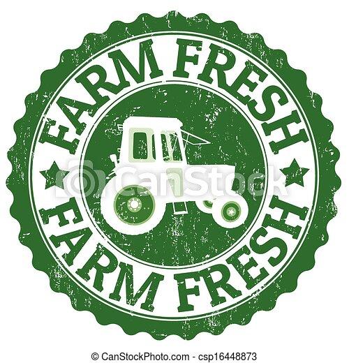 fattoria fresca, francobollo - csp16448873