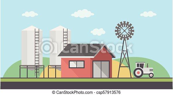 fattoria, paesaggio - csp57913576