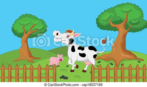 Fattoria paesaggio fattoria vettore illustrazione for Piani di fattoria stonegate