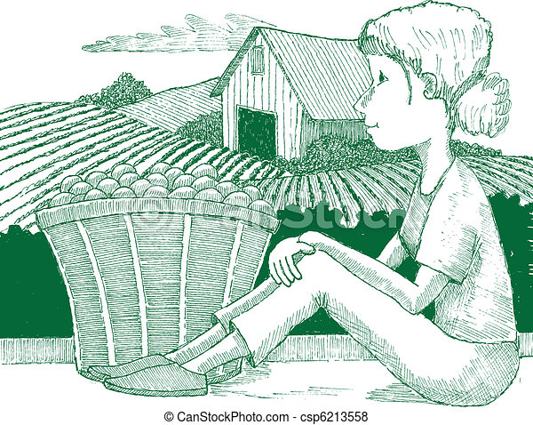 fattoria, ragazza - csp6213558