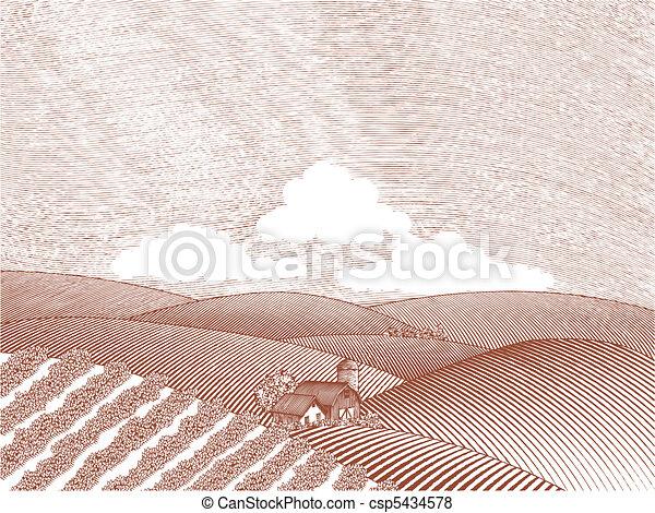 fattoria, scena rurale - csp5434578
