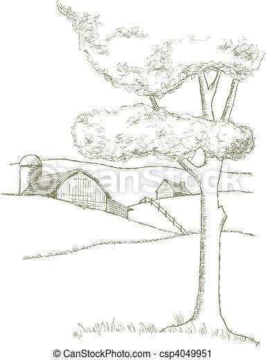 fattoria, scena - csp4049951