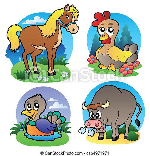 Fattoria vario 2 animali animali illustration for Piani di fattoria stonegate