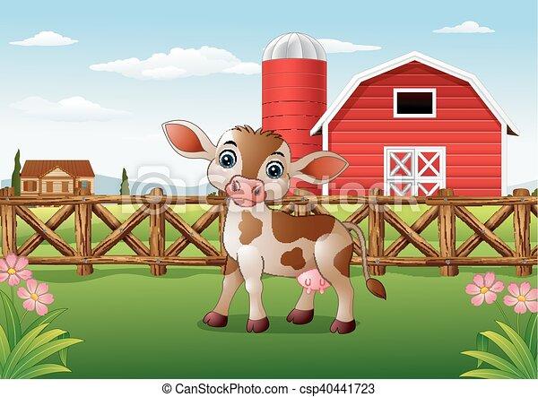 Cartone animato felice asino sorriso in fattoria scaricare