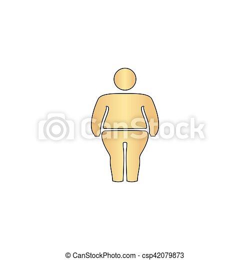 fatty computer symbol - csp42079873