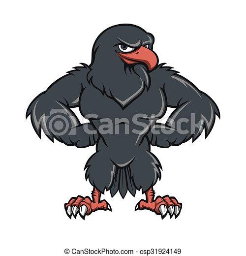Faucon noir dessin anim vecteur eps rechercher des - Dessin de faucon ...