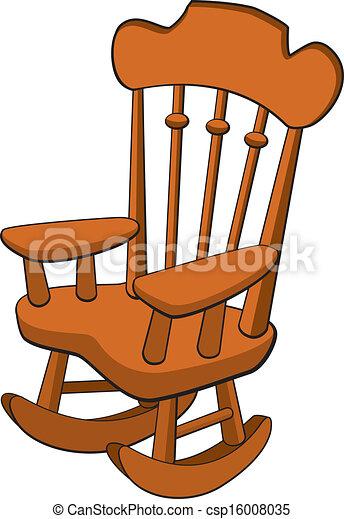 Fauteuil Bascule Balancer Vecteur Chair Illustration
