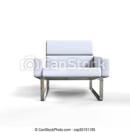 Fauteuil blanc moderne Fauteuil moderne fond