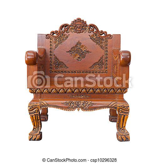 fauteuil, bois - csp10296328