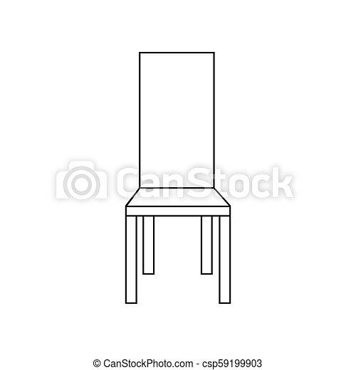 fauteuil, chaise, illustration - csp59199903