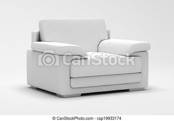 fauteuil cuir - csp19933174