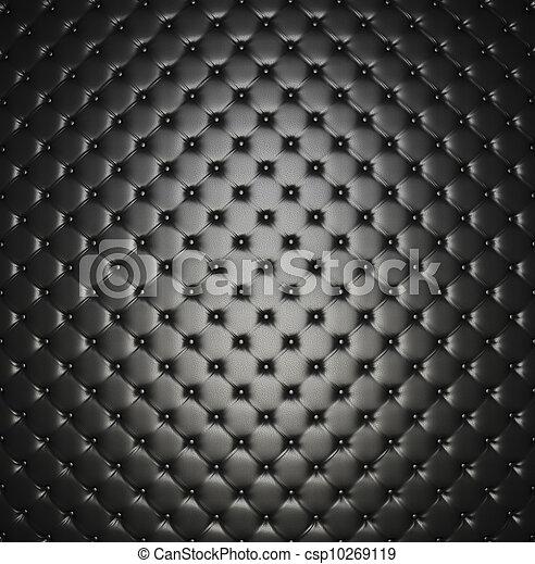 fauteuil cuir, fond - csp10269119