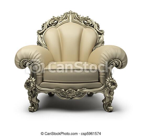 fauteuil, luxueux - csp5961574