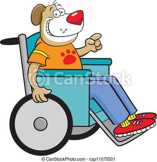 fauteuil roulant chien illustration dessin anim233