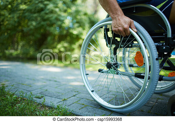 fauteuil roulant, promenade - csp15993368