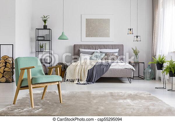 Fauteuil, Spacieux, Chambre à Coucher   Csp55295094