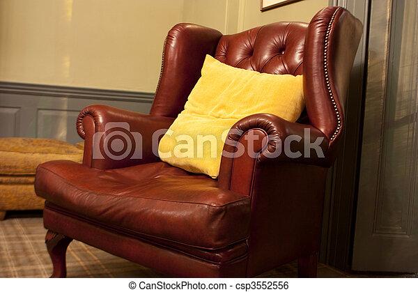 Fauteuil style vieux Brun style vieux fauteuil cuir image