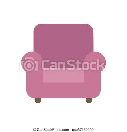 fauteuil, vecteur - csp37139009