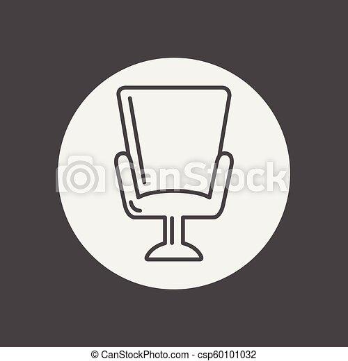 fauteuil, vecteur, icône - csp60101032