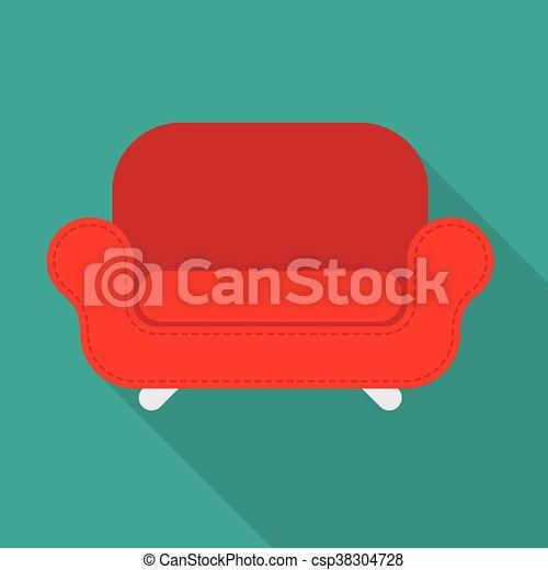 fauteuil, vecteur, rouges - csp38304728
