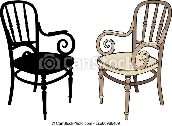 fauteuils, deux - csp68966489
