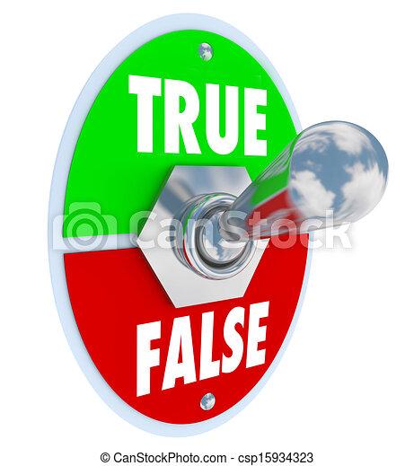 faux, honnêteté, commutateur, cabillot, vs, choisir, vrai, sincérité - csp15934323