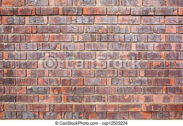 Faux, mur, brique, utilisé. Utilisé, mur, manufacturé, faux ...