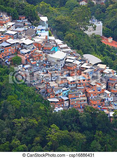 Favela brasileña - csp16886431
