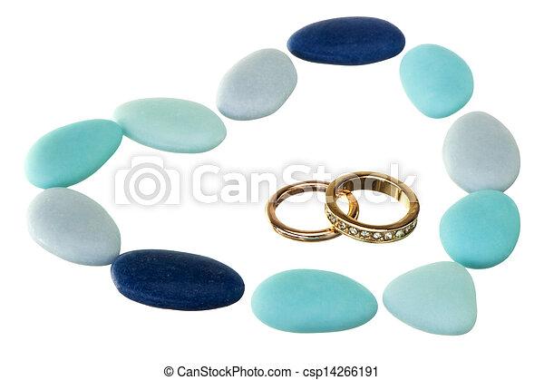 favores, anillo, bodas, boda - csp14266191