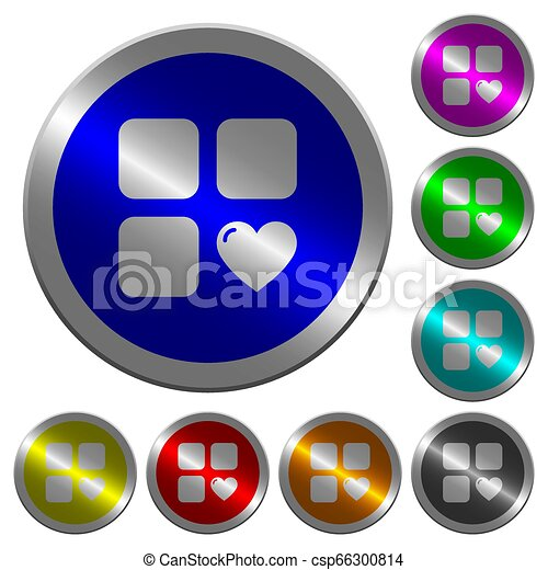 Favorite component luminous coin-like round color buttons - csp66300814
