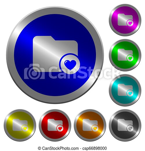 Favorite directory luminous coin-like round color buttons - csp66898000