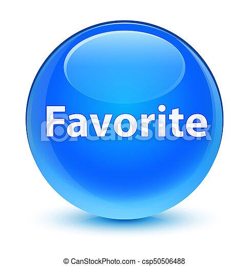 Favorite glassy cyan blue round button - csp50506488