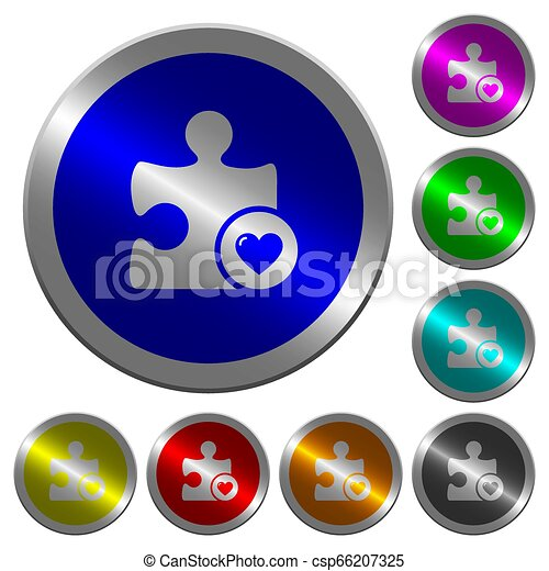 Favorite plugin luminous coin-like round color buttons - csp66207325