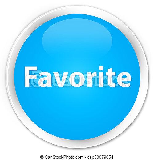 Favorite premium cyan blue round button - csp50079054