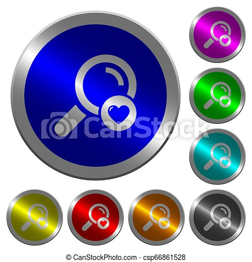 Favorite search luminous coin-like round color buttons - csp66861528