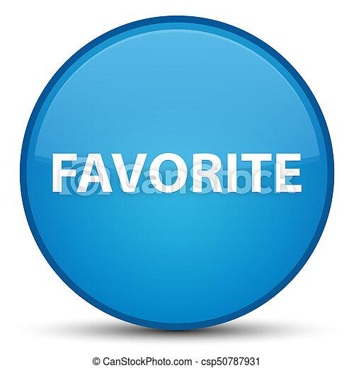 Favorite special cyan blue round button - csp50787931
