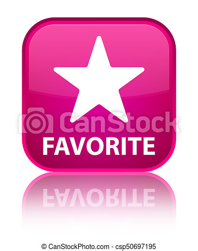 Favorite (star icon) special pink square button - csp50697195