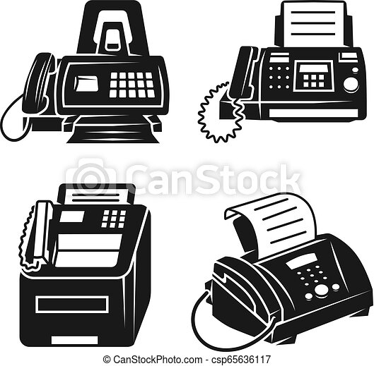fax icons set simple style fax icons set simple set of fax vector icons for web design on white background https www canstockphoto com fax icons set simple style 65636117 html