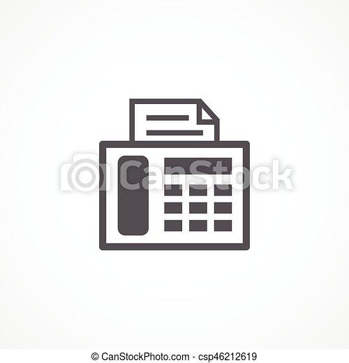 fax, ikona - csp46212619