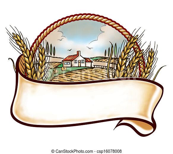 fazenda, embleme - csp16078008