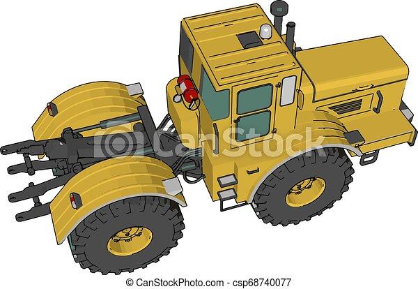 fazenda, ilustração, cor, vetorial, veículo, ou - csp68740077